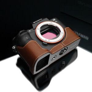 GARIZ Leather Case for Sony A7ii XS-CHA7IICM Camel Brown