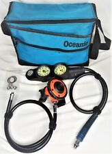 Lot Of Tekna Scuba Gauge Console Mouth Piece, Bag & Extra Parts Equipment Works
