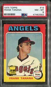 1975 Topps #16 Frank Tanana PSA 8 NM-MT, Ultimate Tough Card!