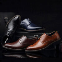Men Oxfords Leather Shoes European Style Dress Formal Business Casual Shoes Lot