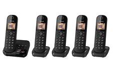 Panasonic KX-TGC425EB Paquete de Teléfono Inalámbrico DECT cinco Quin Negro Contestador telefónico