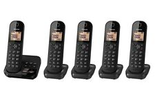 Panasonic KX-TGC425EB Quin Pack Cordless DECT Five Telephone Black Answerphone