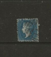 St Vincent 1869 1/-  SG13 G/FU cat £90 see comments