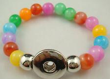 new Diy handmade jade beads Bracelet fit chunk  snap button hot sell free a1d