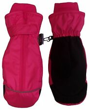 BRAND NEW Kids Pink Thinsulate and Waterproof Easy On Zip-Up Mittens (6-7 years)