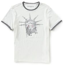 Mens John Varvatos Star USA Liberty Shades Graphic T-shirt Salt Large