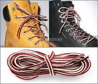 "White & Ruby 150cm Long Hiking Trekking Shoe Work Boot Laces Trek Hike 60"" Inch"