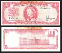 "1964 BRITISH COLONY TRINIDAD & TOBAGO QEII $1 DOLLAR  ""prefix: A3 """