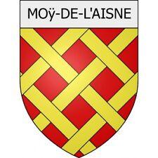 Moÿ-de-l'Aisne 02 ville Stickers blason autocollant adhésif Taille:8 cm