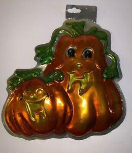 Hanging Double Pumpkin Halloween Wall Decor ORANGE/GREEN MULTI Fall EPOC