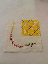 1959 Aunt Jemima Pancake Queen Advertising Paper Napkin