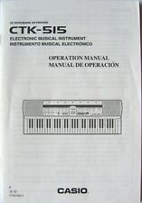 Casio CTK-515 Electronic Keyboard Original Users Guide Owners Manual Book