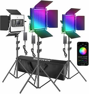 Neewer 3 Packs 480 RGB Led Light with APP Control New!!!
