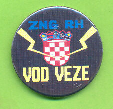 CROATIA ARMY  ZNG RH - VOD VEZE   COMMUNICATION PLATOON,  breast badge from 1991