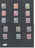 Serbien 1941, Einzelmarken aus MiNr. 1 - 45 **/*, postfrisch **/ungebraucht *