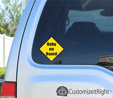 Baby On Board Warning - Sticker Decal Window Bumper Car - Girls Boys Kids Love