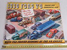 DEPLIANT BROCHURE ORIGINALE TRUCK FORD 1938 V8 COMMERCIAL PICK-UP WOODY DEALER