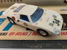 1/32 ATLAS #1576 FORD GT LEMANS RTR slot car  built kit + box & decals VINTAGE