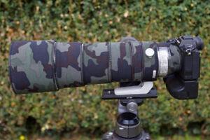 Sony 200 600 FE G OSS f5.6-6.3 Camo Neoprene lens protection Premium ranges