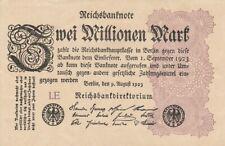 * Ro. 103a - 2 millones de Mark-Deutsches Reich - 1923-Fz: le *
