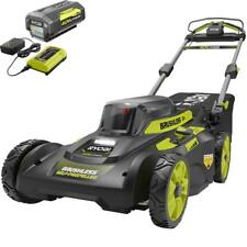 Ryobi 20 in 40V Battery Cordless Walk Behind Self-Propelled Lawn Mower Charger