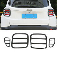 Black Metal Taillight Rear Lamp Protector Cover Guard For 2015-17 Jeep Renegade