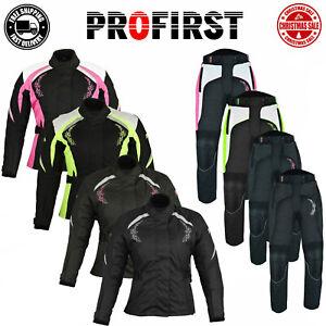 2Piece Motorcycle Ladies Suit Motorbike Jacket Trousers Codura CE Approved Suit