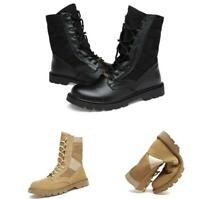 Men High Top Outdoor Military Boots Shoes Combat Army Sport Non-slip Lace up  LL