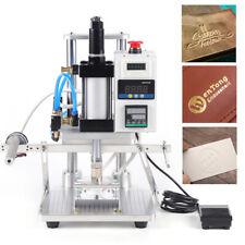 110v Pneumatic Hot Foil Stamping Machine 80x100mm Pu Pvc Logo Pressing Printer