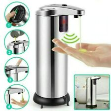 Automatic Soap Dispenser Stainless Steel Touchless IR Sensor Pump Container