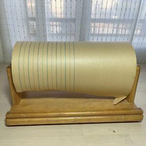 vintage 1970's wooden paper dispenser educational supplies