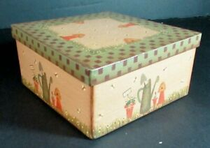 2x Needlecraft Supplies  Boxes: Painted Garden (Square)/Oval Shaker-AK114
