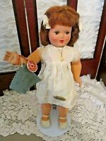"Modele Depose 12.5"" tall, French Composition, Original w/ Stand, Cute Doll"