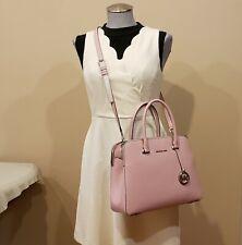 NWT Michael Kors Houston MD Double Zip Leather Satchel Corsbody Bag  Pink $298