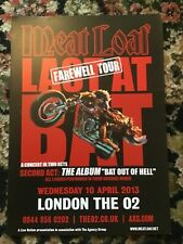 MEAT LOAF LAST AT BAT FAREWELL UK TOUR LONDON A4 POSTER