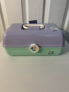 Caboodles Rare Dusty Purple/Green On The Go Girl Classic Makeup Travel Case NEW