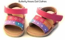 Pastel Flower Strap Sandals 18 in Doll Clothes Fits American Girl