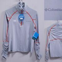 Columbia Gray Omni-Wick 1/2 Zip Sweater Size Small Yoga Athletic Shirt