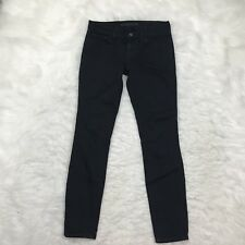 J Brand Mid Rise Skinny Jeans Size 24 Black Stretch Fit