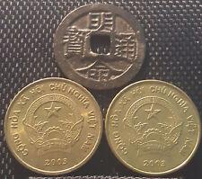 """Ancient Vietnam """"Ming Ming Tong Bao"""" & 5000 Dong coin 2 pcs (+FREE 1 coin)#D1841"""