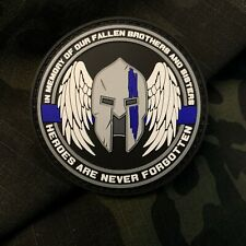 In Memory of Our Fallen Law Enforcement Thin Blue Line PVC Patch