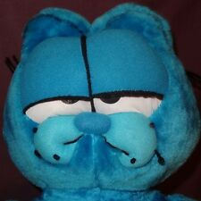 "Garfield Blue Plush Stuffed Animal 22"" Styrofoam Filled"