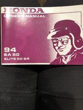 Honda 1994 SA 50 Elite 50 SR 00x31-GS7-6500 Owners Manual