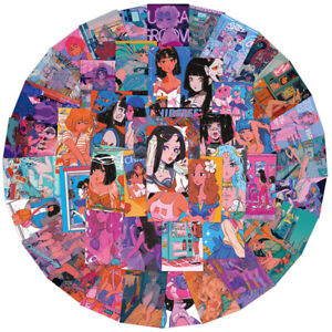 50PCS Sweetheart Beauty Stickers Anime Girl Otaku Welfare Illustration For  CRBD