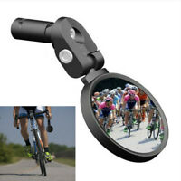360° Wider View High-Quality Road Bicycle Drop Bar Rear View Mirror - Black