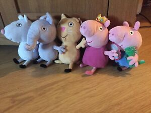 Peppa Pig TY Beanies Plush Soft Toy Bundle - Five  Friends Inc George