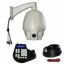 7'' CCTV 700TVL 18X zoom PTZ Outdoor IR Speed Dome Camera Controller Kit