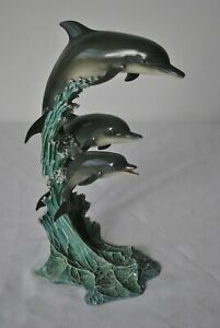 DANBURY MINT - DOLPHINS - RIDING THE WAVES