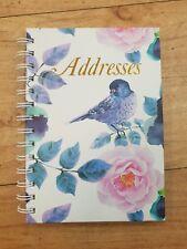 FLORAL BIRD Address Book A-Z Spiral 190 x 130mm 72Leaf Cumberland 767005*