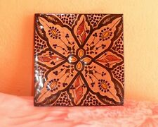 Moroccan Ceramic Plate Handmade Pasta Bowl Pottery Serving Wall Hanging